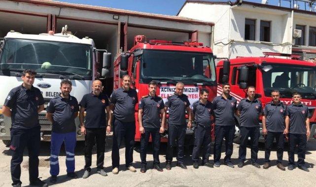 Elazığ Belediyesi itfaiyesinden Manavgat'a destek