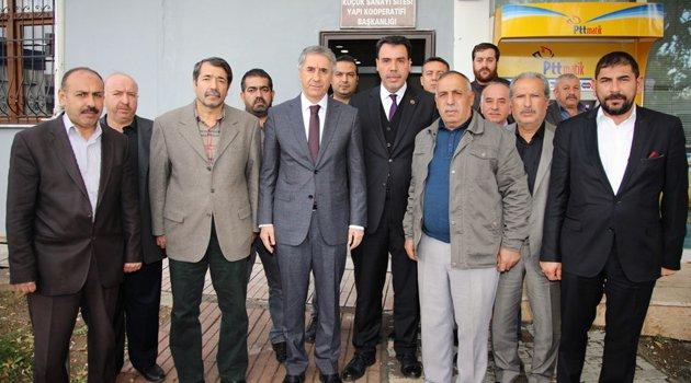 BAŞKAN YANILMAZ'DAN SANAYİ SİTESİ ESNAFINA ZİYARET