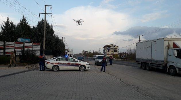 Jandarmadan Drone Destekli Şok Trafik Uygulaması