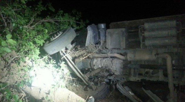 Elazığ'da Kamyon Devrildi:50 Küçükbaş Hayvan Telef Oldu