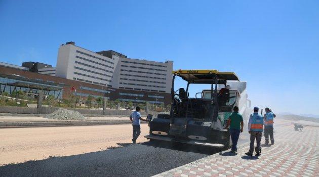 Şehir Hastanesinde Yol Çalışmaları