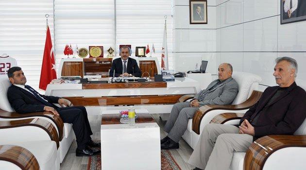 SP İL BAŞKANI VE YÖNETİMİ TSO BAŞKANI ALAN'I ZİYARET ETTİ.