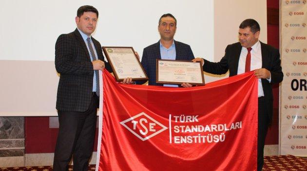 OSB KONFERANS SALONUNDA TSE BELGELENDİRME TOPLANTISI YAPILDI