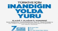 AK Parti Elazığ İl Kongresi Pazartesi